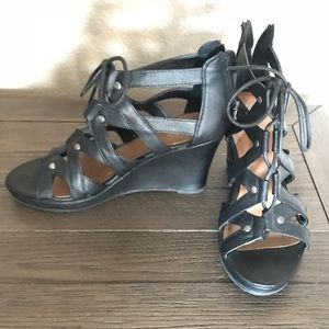 Mossimo Black Wedges